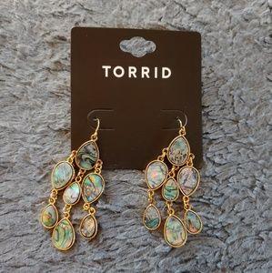 Torrid Abalone Dangle Earrings